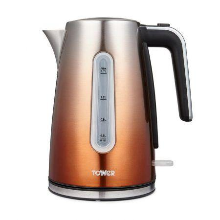 Tower T10046GOP Infinity Ombre 3KW 1.7L Open Handle Kettle - Copper