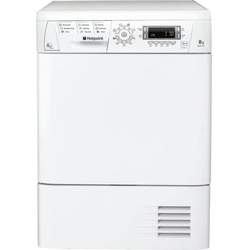 Hotpoint 8kg capacity Heat Pump tumble dryer in white - LCD display with push button control