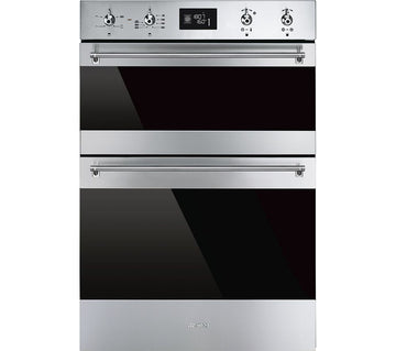 Smeg DOSF6390X Classic Multifunction Electric Built In Double Oven - Stainless Steel - £40 Cashback from Smeg if purchased by 31/08/2020 (T&C Apply)