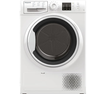 Hotpoint NTM1081WK 8kg Freestanding Condenser Tumble Dryer With Heat Pump Tech - White - A+ energy rating