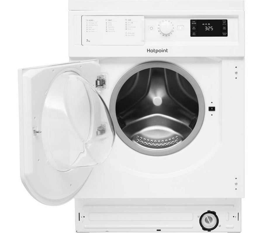 Hotpoint BIWMHG71484 Integrated 7Kg Washing Machine 1400rpm In White - A+++ Rated