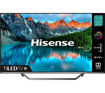 "HISENSE 55U7QFTUK 55"" Smart 4K Ultra HD HDR QLED TV with Amazon Alexa"