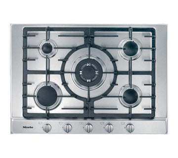 Miele KM2032 5 Ring 75cm Gas Hob in Stainless Steel