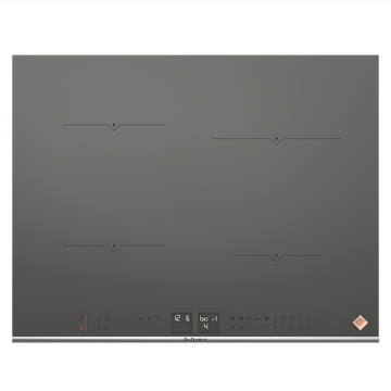 De Dietrich DPI7670G 65cm 4 Zone Induction Hob 7 Functions - Grey