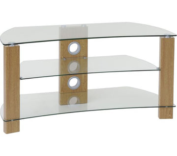 TTAP Vision Curve 1200 TV Stand - Walnut and Oak