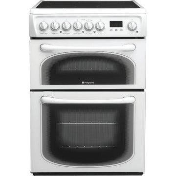 Hotpoint 60HEPS 60cm Ceramic Electric Cooker with Double Oven