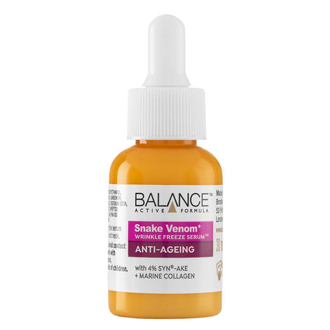 Balance Active Skincare Snake Venom Wrinkle-Freeze Serum 30ml - Balance Active Formula