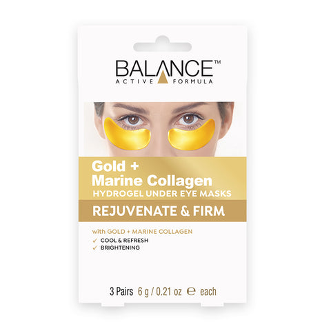 Balance Active Skincare Gold + Marine Collagen Hydrogel Under Eye Masks - Balance Active Formula