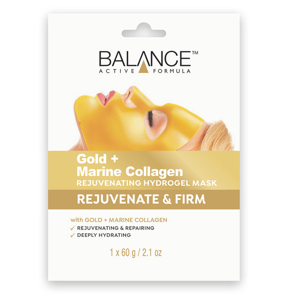 Balance Active Skincare Gold + Marine Collagen Rejuvenating Hydrogel Mask - Balance Active Formula