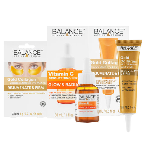 Brightening skin with Vitamin C and Gold Collagen
