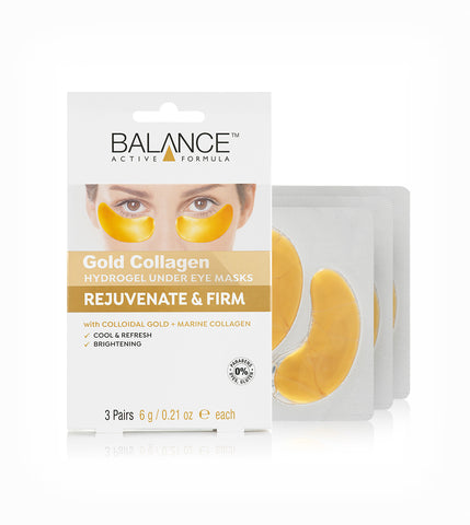 Balance Active Formula Gold Collagen Hydrogel Under Eye Masks 3 x 6g - Balance Active Formula