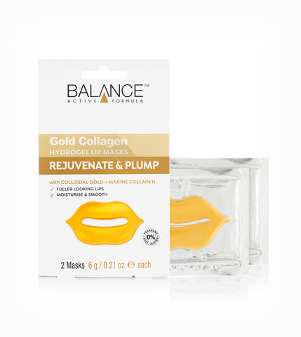 Balance Active Formula Gold Collagen Hydrogel Lip Masks 2 x 6g - Balance Active Formula