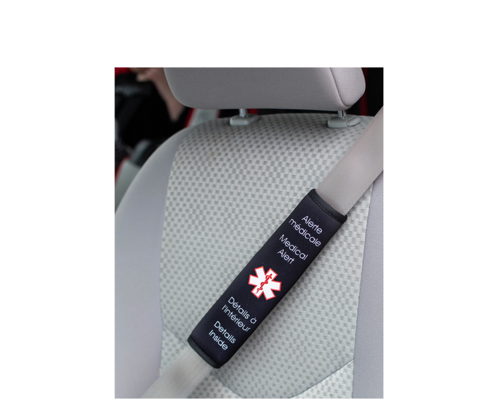 Medical Alert Device for car seat belt - Handy Adapted Products