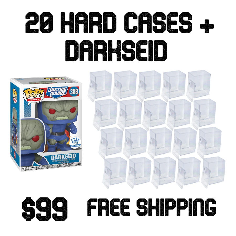 20 Pack Hard Cases + Funko Shop Exclusive Darkseid