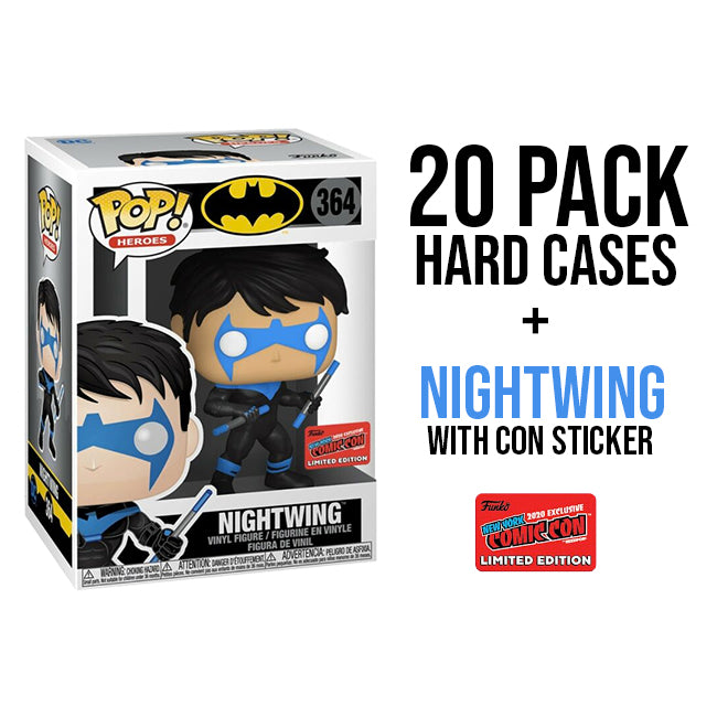 20 Pack of Hard Cases + Nightwing - 2020 NYCC Exclusive Funko Pop - Exclusive Sticker