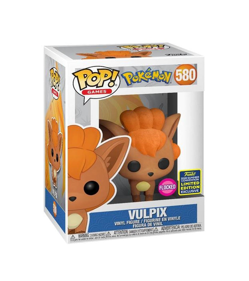 Vulpix - Pokemon - 580 - POP Games - Funko 2020 Summer Convention Limited Edition Exclusive Flocked