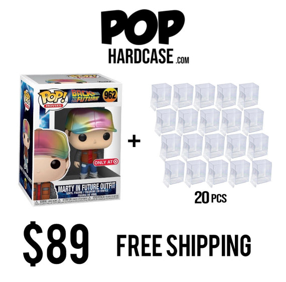 Marty In Future Outfit 962 Target Exclusive + 20 Pack of Hard Cases