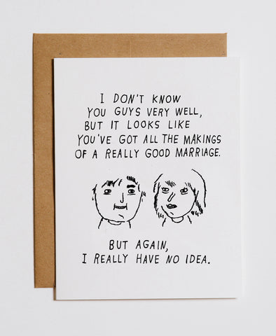 Marriage No Idea