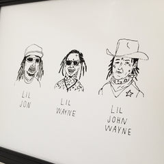 Lil John Wayne Screen Print