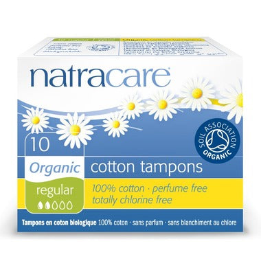 Organic Tampons | Regular | Non-Applicator | 10 Pack