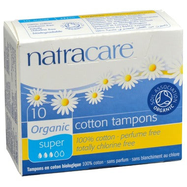 Organic Cotton Tampons | Super | With Applicator | 10 Pack