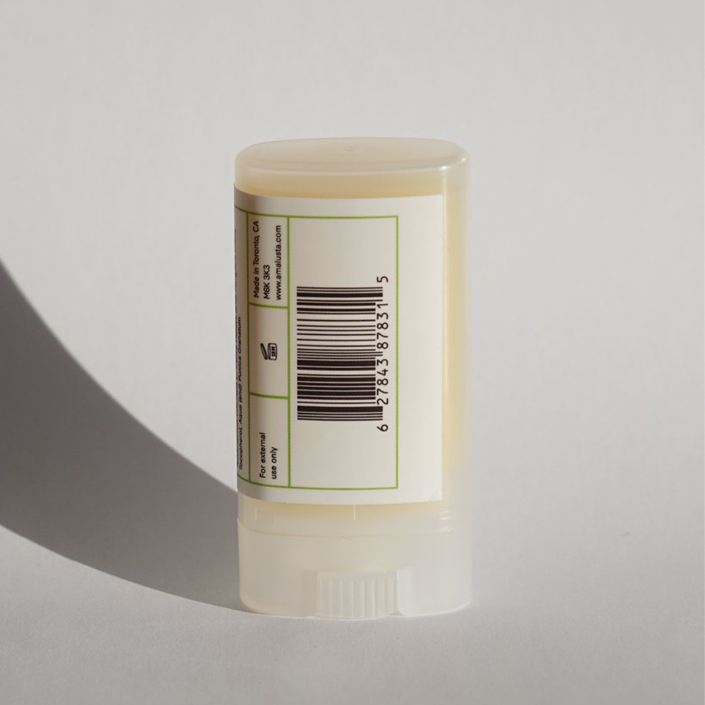 Reverse of Amalusta Natural Truth Balm label