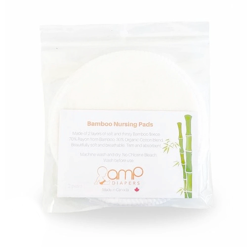Reusable Nursing Pads | Bamboo & Organic Cotton Fleece | 4 Pads