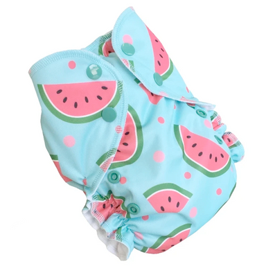 Duo Bamboo Cloth Diaper | Watermelon | One Size 6-38lbs
