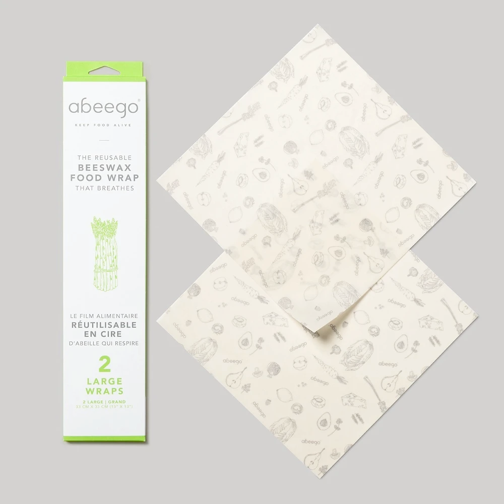 Beeswax Food Wraps | 2 Large Wraps | 33cm x 33cm