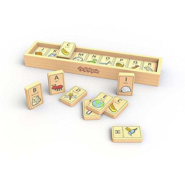 Alphabet Adventure Tiles | Eco-Friendly Rubberwood | 28 Tiles