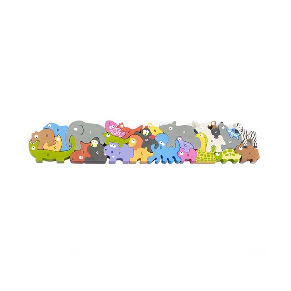 Beginagain | Puzzle and Play Set | Animal Parade A to Z | Jumbo Version