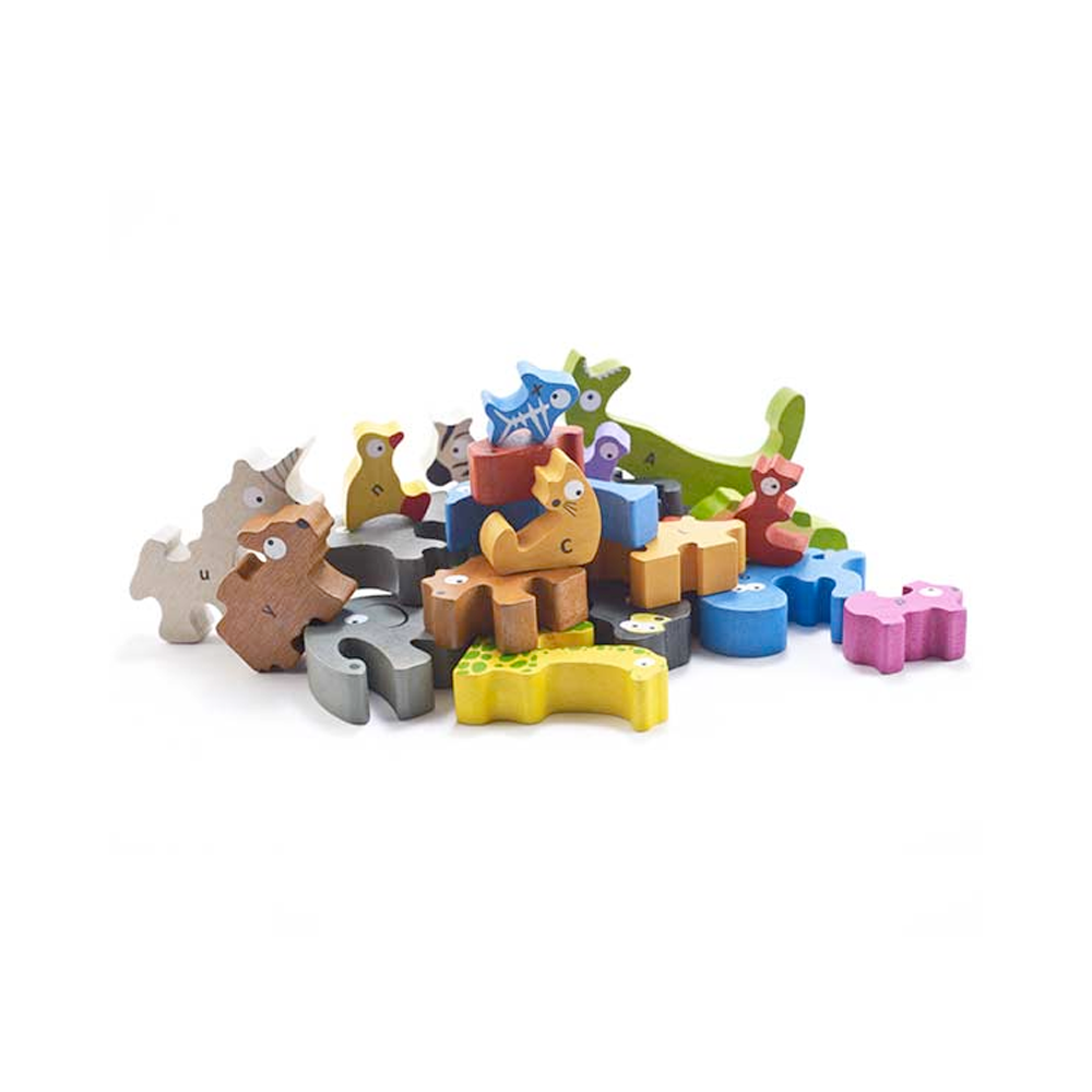 Puzzle and Play Set | Animal Parade A to Z | Jumbo Version