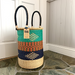 Laundry Basket | Small | Turquoise, Navy & Orange