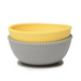 Chewbeads Silicone Bowls in Grey & Yellow