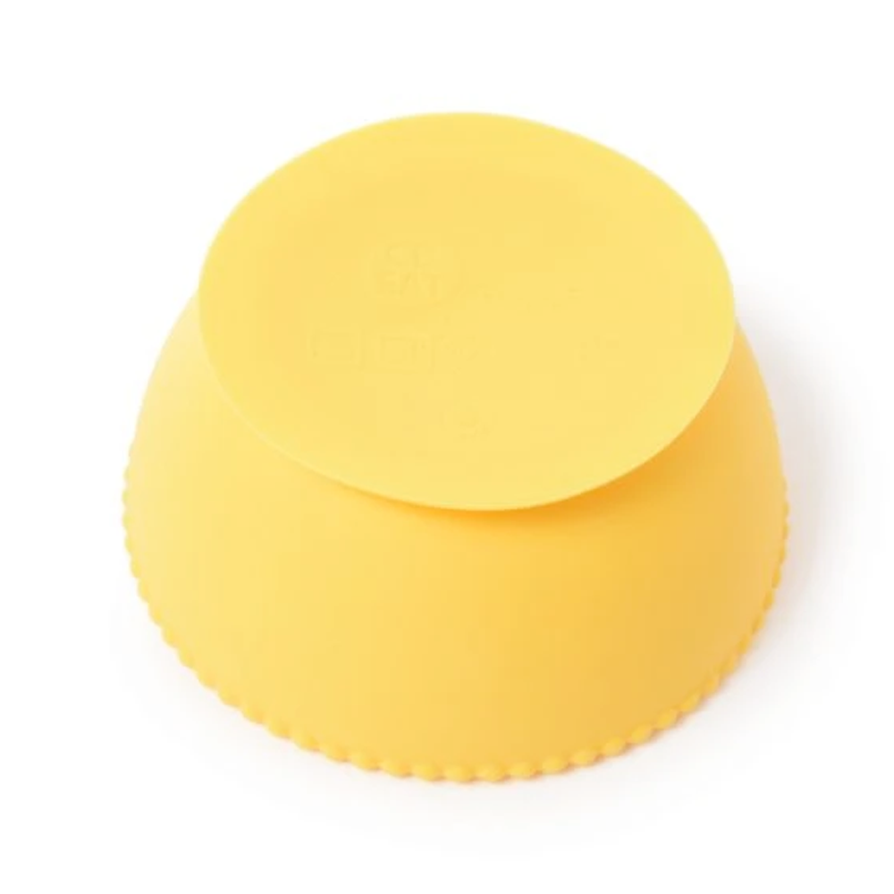Upside down Chewbeads Silicone Bowl in Yellow