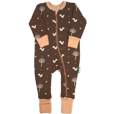 2-Way Zipper Romper | Chocolate Squirrels | Various Sizes