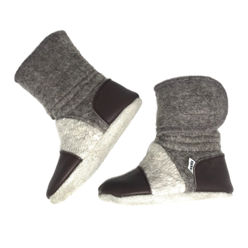 Nooks Design | Child Booties | 100% Wool | 1 Pair | Coco