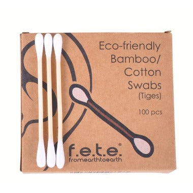 Bamboo Cotton Swabs | 100 per Pack