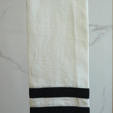 Lipari Tea Towel | White & Navy Stripes