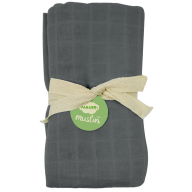 Bamboo Muslin Swaddle | Charcoal