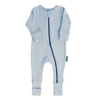 Parade Baby 2-Way Zipper Romper in blue