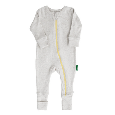 Parade Baby 2-Way Zipper Romper in grey