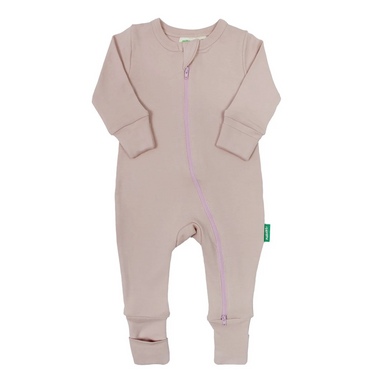 Parade Baby 2-Way Zipper Romper in misty rose