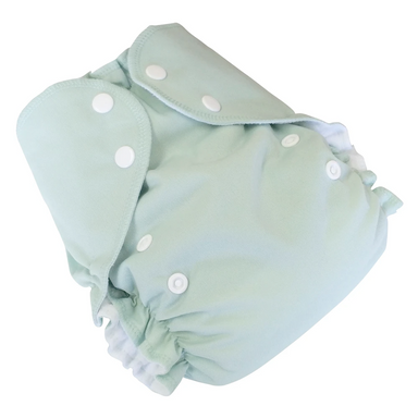 Cloth Diaper Set | Sage | One Size 6-40lbs Cover + 2 Inserts