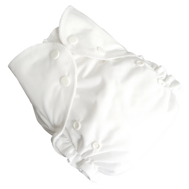 Cloth DiaperSet | Snow | One Size 6-40lbs Cover + 2 Inserts.