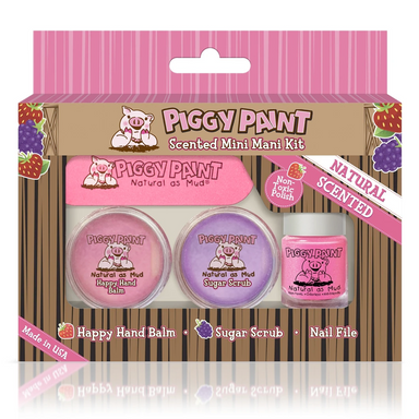 Piggy Paint Non-Toxic Scented Mini Mani Kit in box