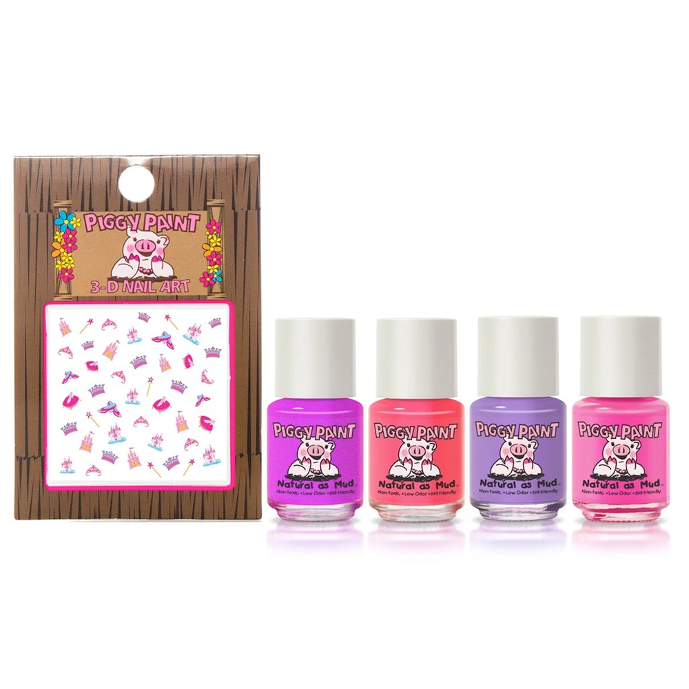 Piggy Paint Non-Toxic Swirls & Twirls Nail Polish Gift Set