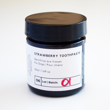 Coconut Oil Toothpaste For Dogs | With Strawberry Fruit Extract | 50ml