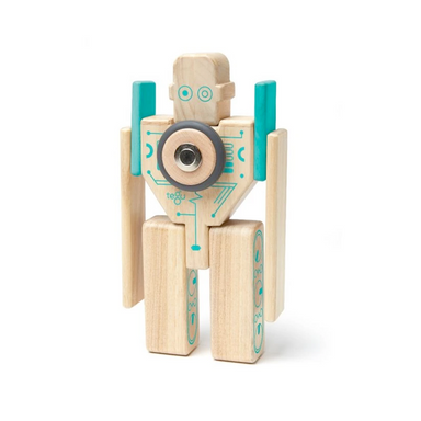 Tegu Toys Magbot magnetic block set built like a traditional robot
