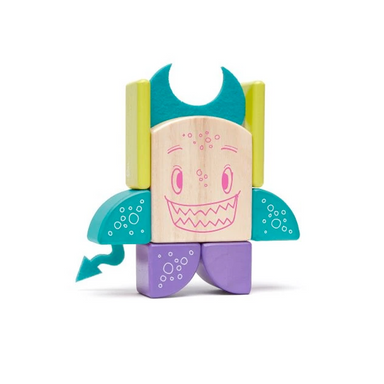 Tegu Toys Pip magnetic block set built like the named character